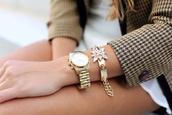 jewels,horloge,bracelets,gold