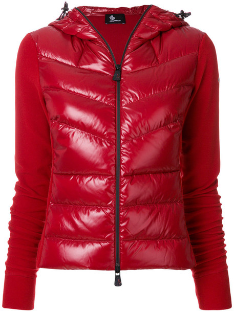 MONCLER GRENOBLE jacket cropped jacket cropped women spandex red