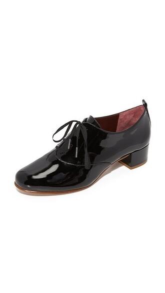 oxfords lace black shoes