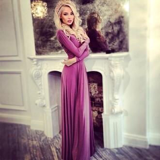 dress princess purple dress purple maxi dress long sleeve dress purple purple long sleeve maxi dress