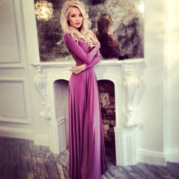 purple dress purple maxi dress long sleeve dress purple purple long sleeve maxi dress dress princess