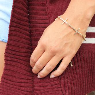 cross round bracelets jewels