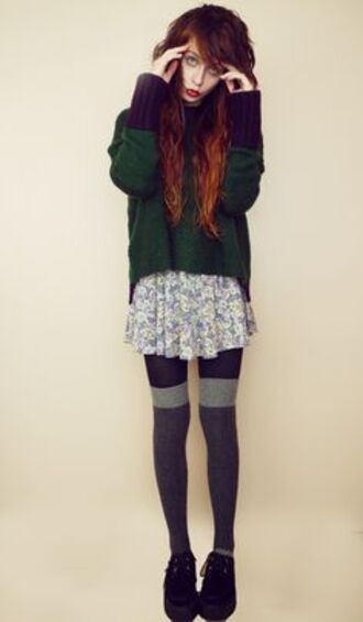 grunge 90s style 90s style soft grunge jumpsuit 90s style skirt socks