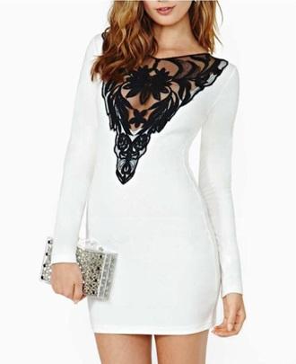 dress white dress black dress lace dress lace top fitted dress style fashion