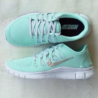 shoes mint nike free run sports shoes