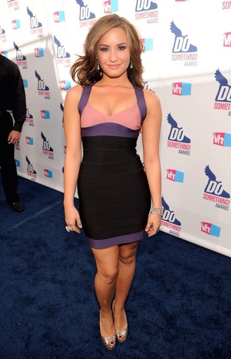 dress short purple dress demi lovato bodycon dress