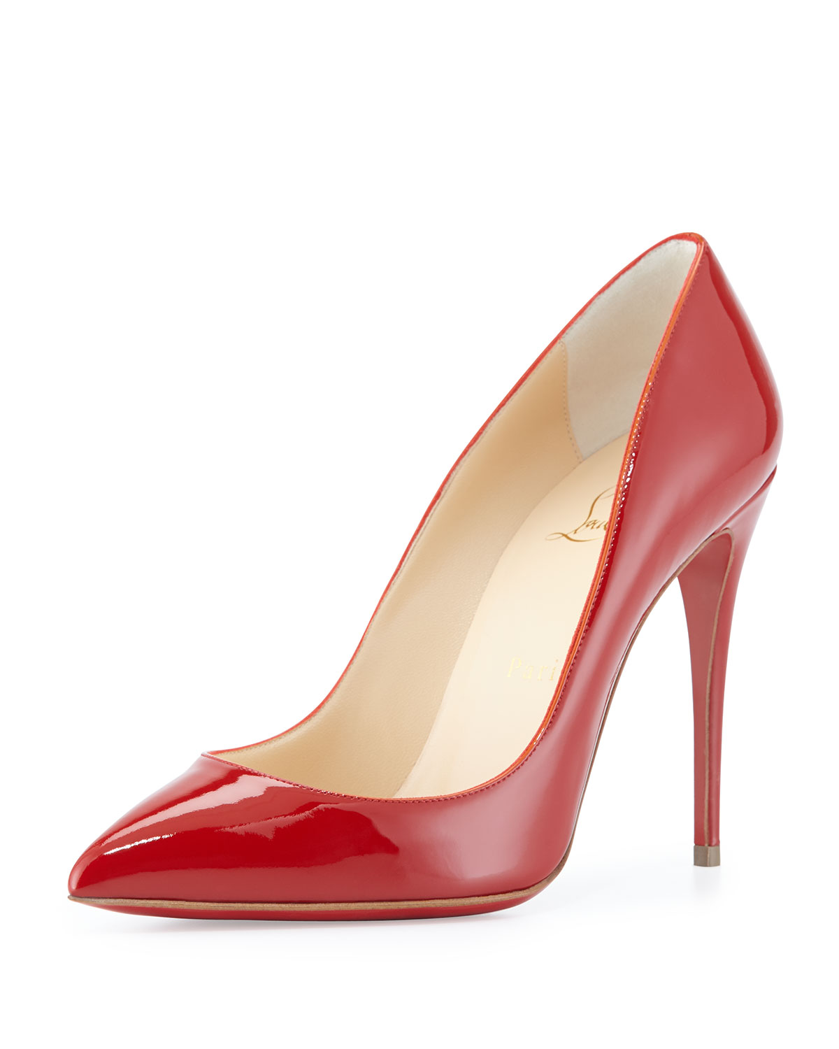 Christian Louboutin Pigalle Follies Patent Red Sole Pump, Red