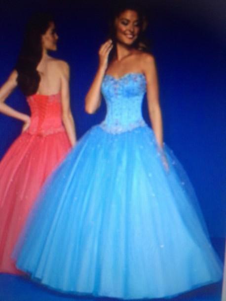 Dress Blue Dress Prom Dress Long Prom Dress Cinderella