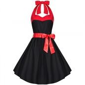 dress,vintage dress,polka dots dress