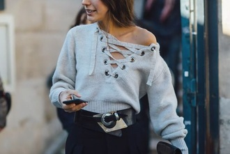 sweater isabel marant lace up jumper