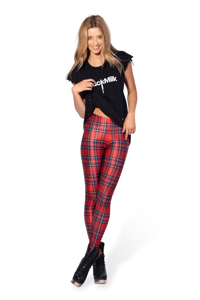 Audrey knitting SK 058 women digital printed pants black milk red plaid Leggings brand clothes for womans-in Socks & Hosiery from Apparel & Accessories on Aliexpress.com