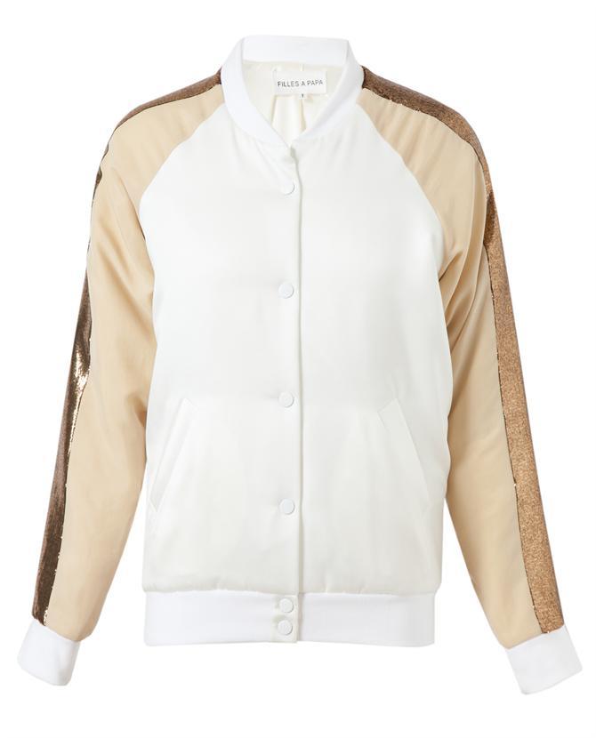 A PAPA | Satin and Gold Lame Baseball Jacket | Browns fashion