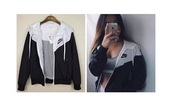jacket,white and black windrunner