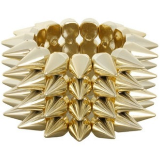 jewels gold spike stretch bracelets spike