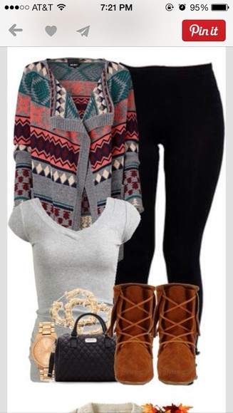 aztec grey cute colorful sweater aztec sweater cute sweaters