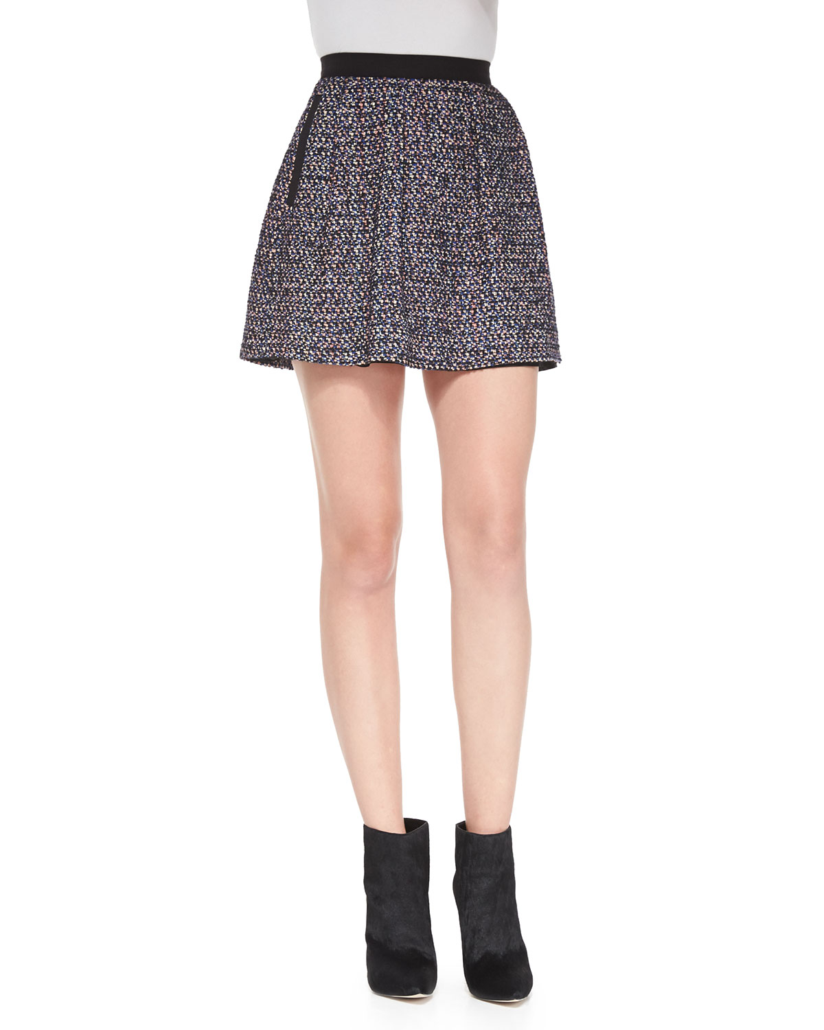 French Connection Malik Wool-Tweed Miniskirt