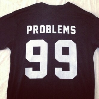 t-shirt jersey sports luxe jay z skreened black problems 99 problems