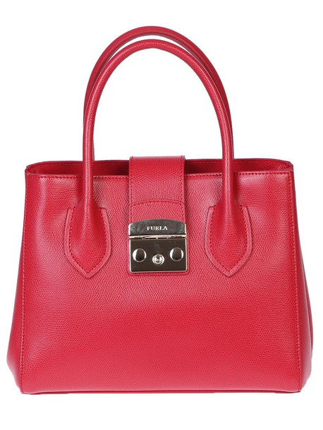 Furla bag leather bag leather red