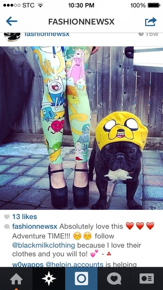 tights adventure time adventure time leggings hat