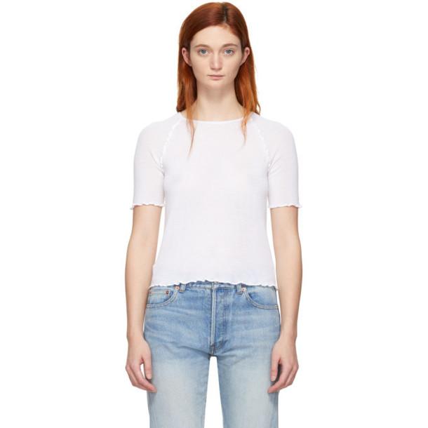 alexanderwang.t White Wool Wash & Go T-Shirt