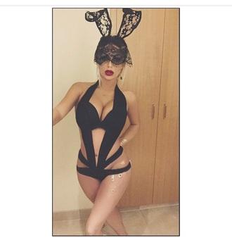 swimwear bunny ears accessories one piece swimsuit black bikini cut out swimwear earrings bracelets hair accessory