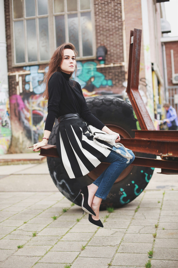 style scrapbook skirt jeans shoes sweater bag