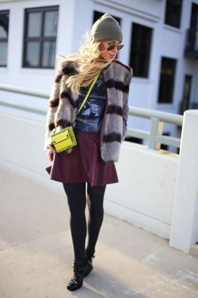 happily grey jacket shirt skirt shoes bag hat