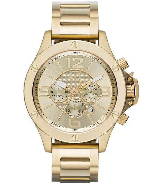 jewels armani exchange watch gold watch style