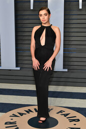 dress,oscars 2018,black dress,keyhole dress,charli xcx,maxi dress,gown,prom dress,jumpsuit