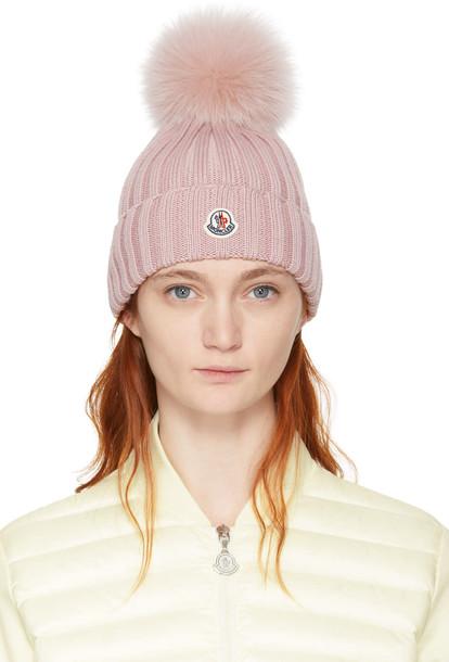 beanie pom pom beanie pink hat