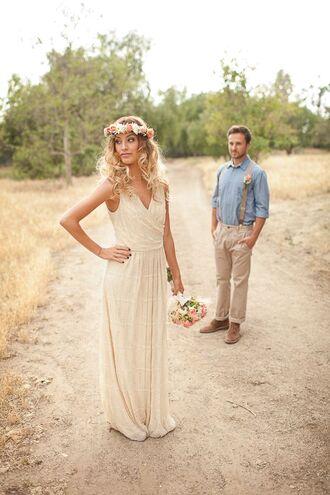dress wedding dress wedding clothes nordstrom hipster wedding flower crown hipster white dress lace dress mens suit