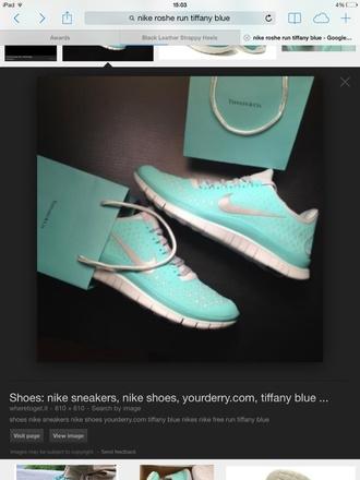 shoes nike rosche run tiffanyblue