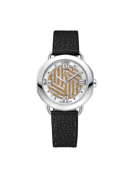 Fendi - Selleria watch - women - Calf Leather - One Size, Grey in metallic