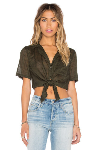 top plaid short green