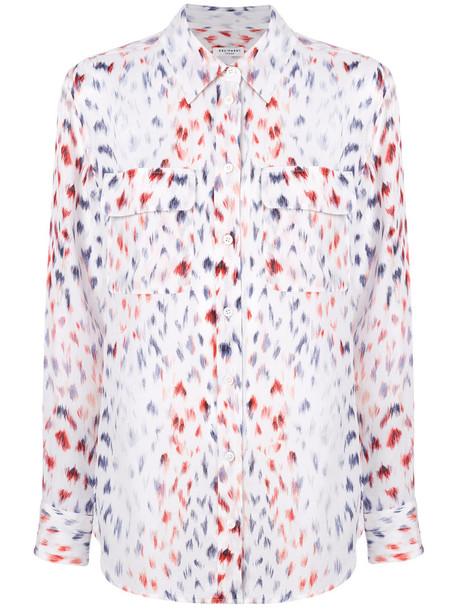 Equipment shirt women white silk top
