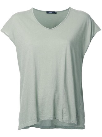 t-shirt shirt women cotton green top