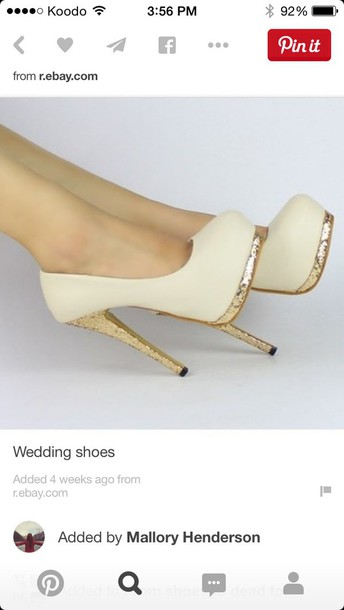 shoes prom shoes prom white high heels gold heels
