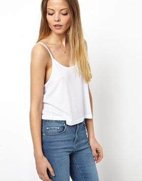 ASOS | ASOS Cropped Cami Top with Scoop Neck at ASOS