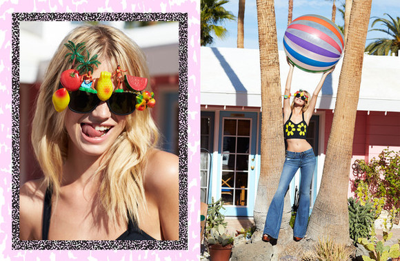 vintage festival sunglasses colorful summer outfits rainbow