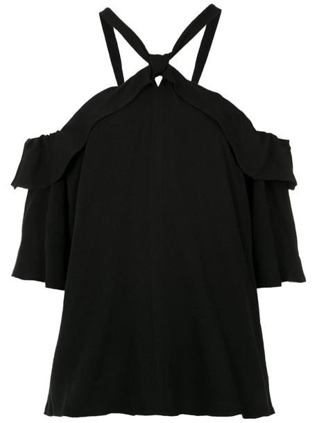 Olympiah blouse ruffle women black top