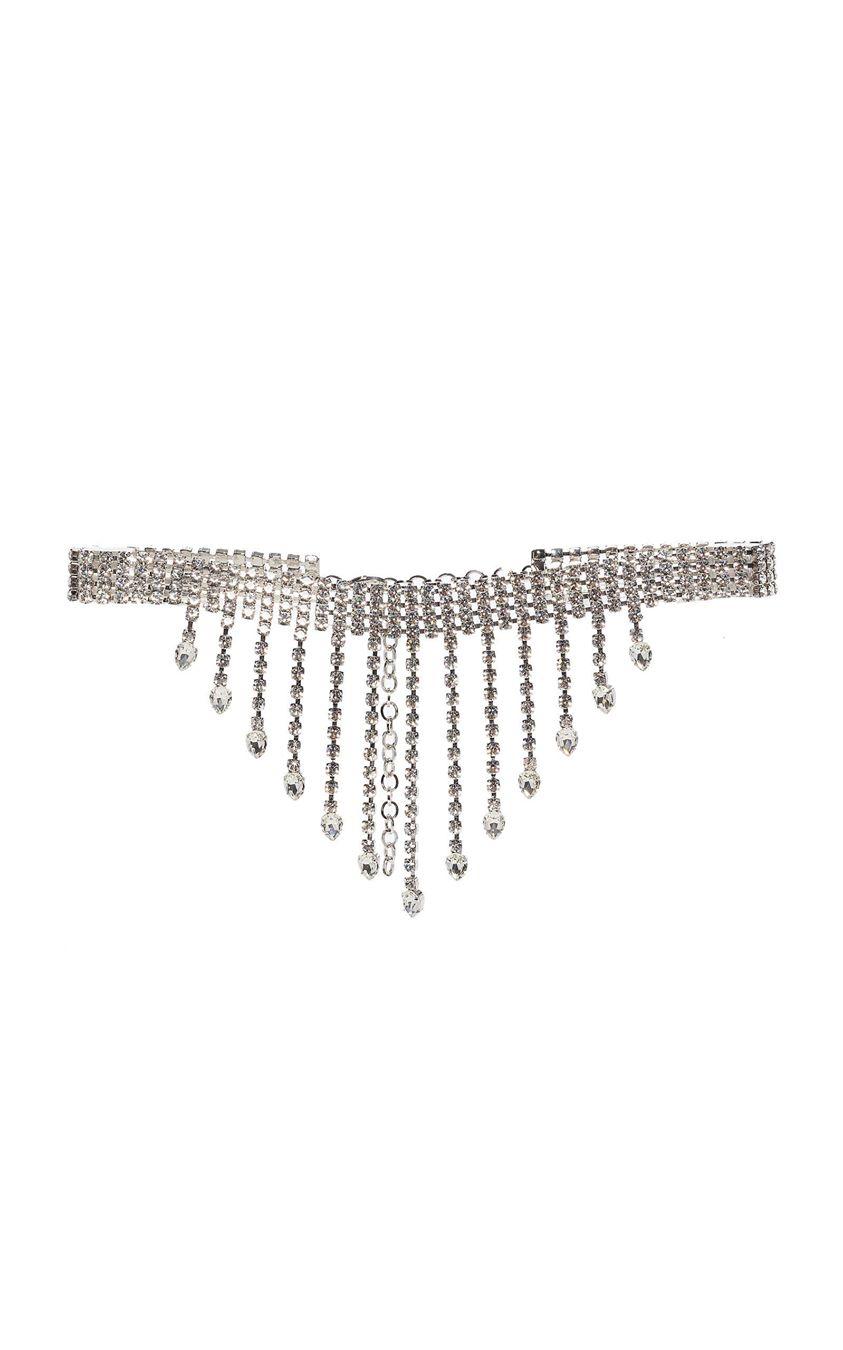 Alessandra Rich Fringed Crystal-Embellished Belt Size: S