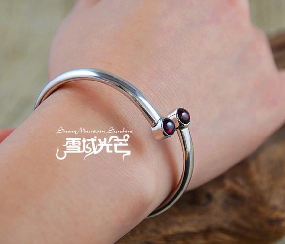 jewels bracelets handmade nepal 925 sterling silver garnet