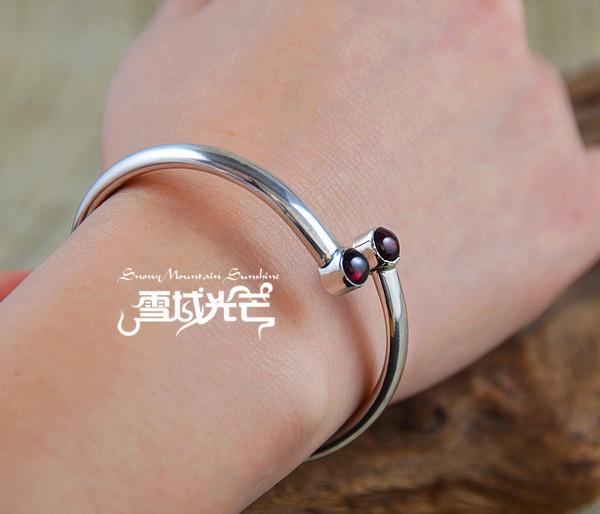 jewels handmade nepal 925 sterling silver garnet bracelets