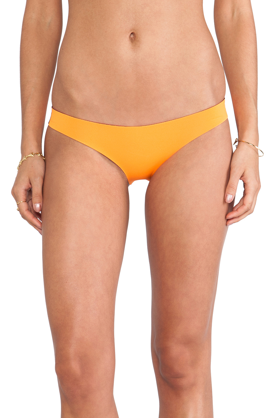N.L.P Brazilian Neoprene Bottom in Dayglow Orange | REVOLVE