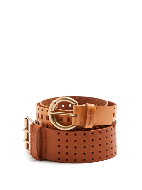 belt leather tan