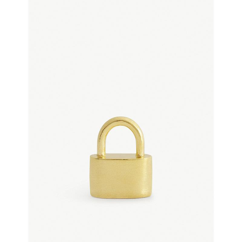 Mini Padlock gold pendant