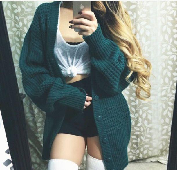 cardigan green cardigan chunky knit cardigan oversized cardigan chunky knit