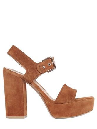 sandals suede tan shoes