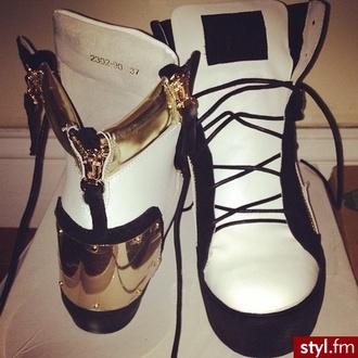 shoes giuseppe zanotti gold sneakers