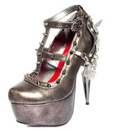 shoes,pewter,silver,retro,spike,goth,dark,steampunk